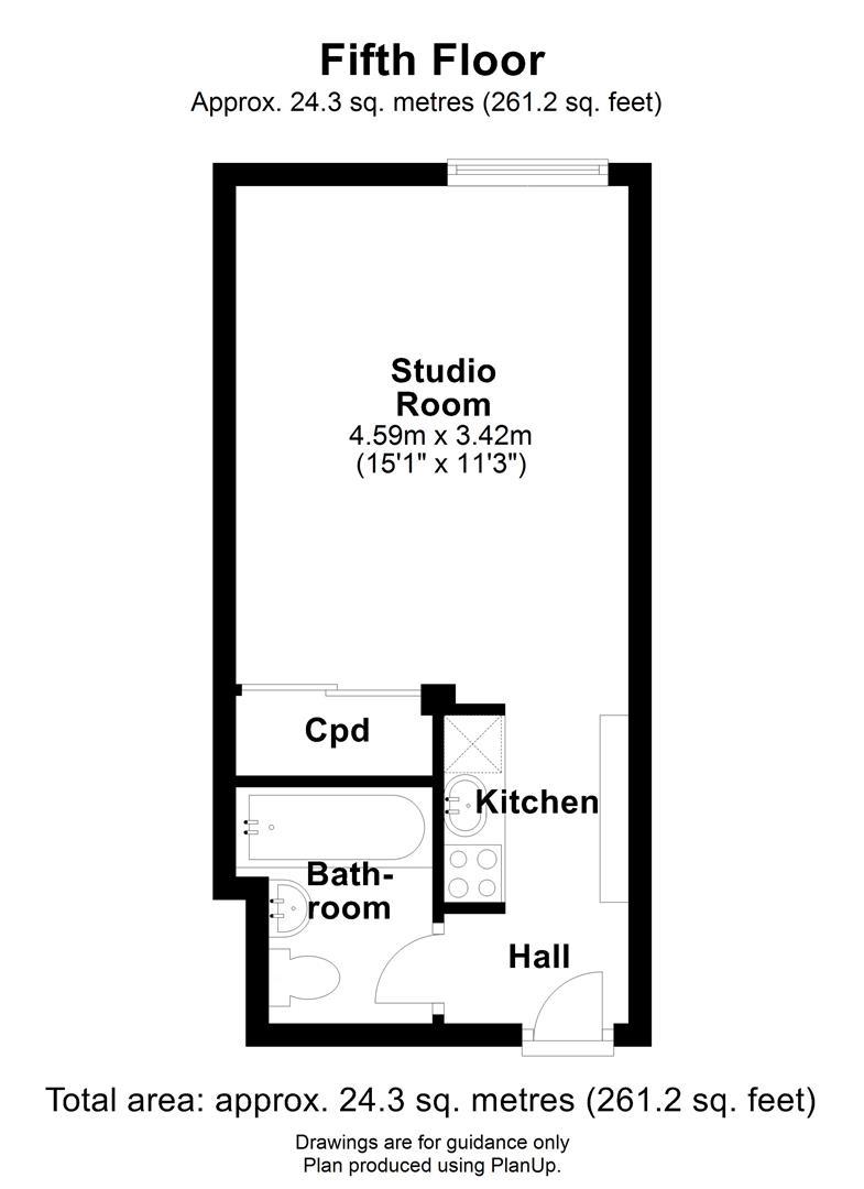 Floor plan Mayflower House, Manhattan Drive, Cambridge